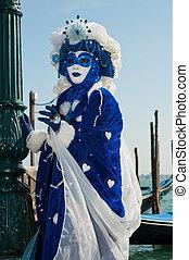 Venice Carnival - Traditional Venice Carnival mask in San...