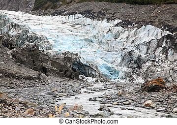 fox glacier in New Zealand - detail of fox glacier in New...