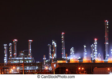 petrochemical oil refinery plant - beautiful scenic of...