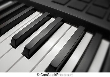 black & white piano keys