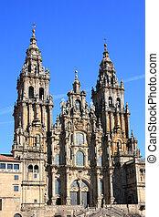 Santiago de Compostela Cathedral in Galicia (Spain)....