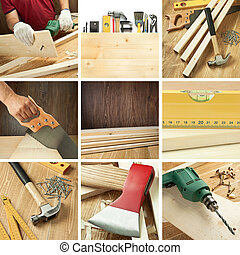 carpenteria,  collage
