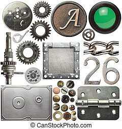 Metal details - Screw heads, cogs, frames and other metal...