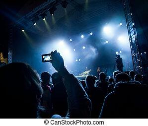 concert - people watching open air concert