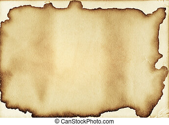 Aged paper texture with stain edges