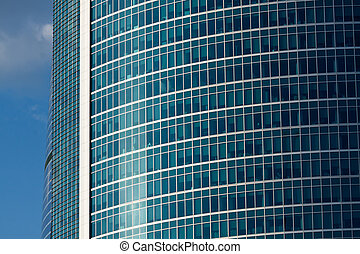 Windows on a modern office building making a background