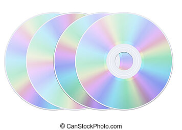 Disk dvd cd isolated - Disk dvd cd on the white background