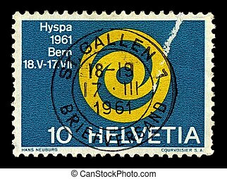 Postage stamp - Switzerland-CIRCA 1961:A stamp printed in...