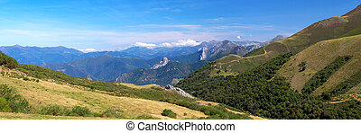 Cantabrian Mountains - Panoramic view of Cantabrian...