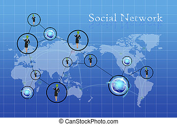 people connected to each other around the world - people...