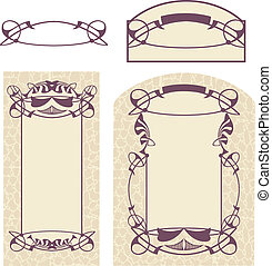 quot;Art Nouveauquot; style - Vector drawing of Art Nouveau...