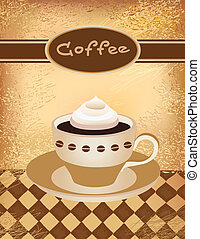 cup of coffee - Vector illustration of a coffee cup with...