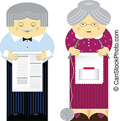 Grandparents - Vector illustration of family theme...