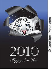 white tiger - 2010 New Years symbol white tiger