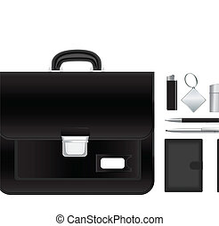 briefcase with accessories