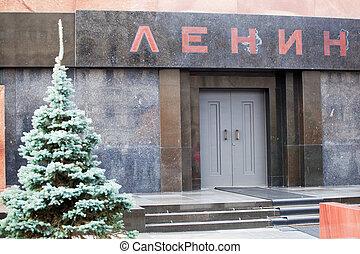 mausoleo, Lenin, rojo, cuadrado, moscú, Rusia