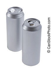 beverage can isolated on white