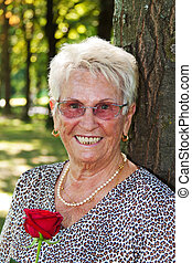 older women (senior citizen) - happy elderly senior citizen...