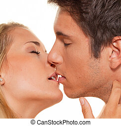 couple has fun love and tenderness - couple has fun and joy...