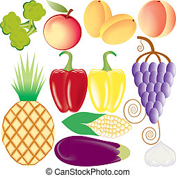 fruits and vegetables vector se