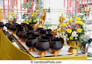 Donation in a Buddhist Temple