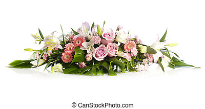 Long bouquet for holiday cheer with rose, herbera and lily