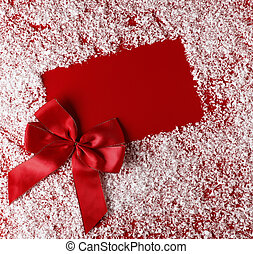christmas red background with white snowflake border