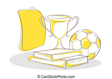 Books and Trophy