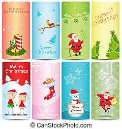 Christmas Template - illustration of set of christmas...