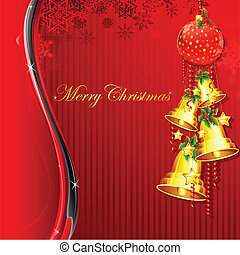 Hanging Christmas Bell - illustration hanging christmas bell...