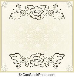 vintage design for wedding card