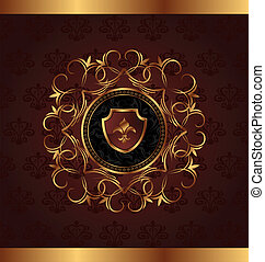 gold vintage for design packing - Illustration gold vintage...