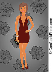fashion glamor girl