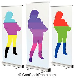 girl on roll up in cmyk and rgb color