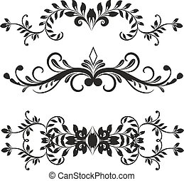 Design elements - Floral design elements vector