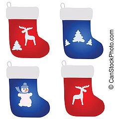Four christmas footwears