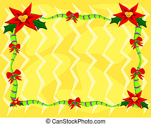 Frame of Christmas Poinsettia