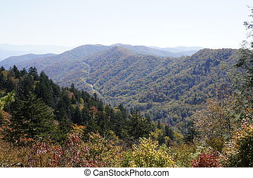 Smokys in the Fall - Picture of the mountains taken in the...