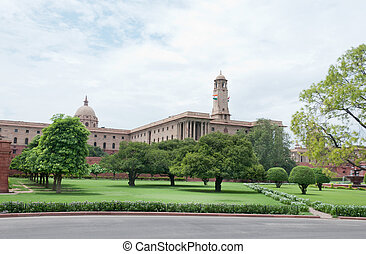Residence of the president of India - Delhi, India, August...