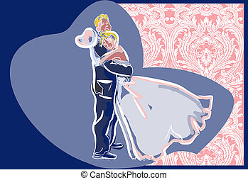 wedding day  - wedding card illustration