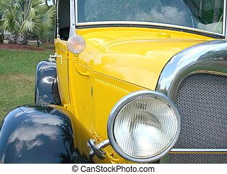 Vintage automobile - Front view of a vintage automobile