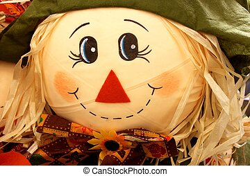 Cloes up of scarecrow face