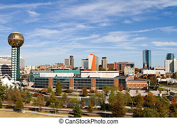 Knoxville Tennessee Skyline - Office buildings and high rise...