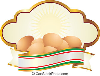 Eggs labeled organic - label for fruit and vegetables good...