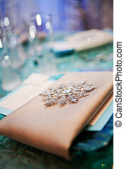 Fancy Place Setting - A fancy napkin and decorative...