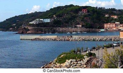 View Above Porto Azzurro Marina, Elba Island, Italy