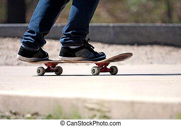 Skateboarders, Pies, cierre, Arriba