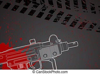 Military background - Military vector background with uze...