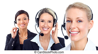 Call customer center operator - Young Call customer center...