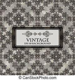 vector seamless grungy floral vintage background with place for your text